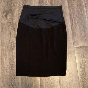 Short black maternity skirt